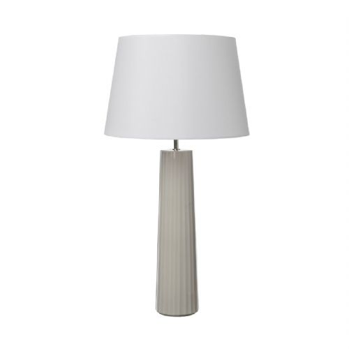ABILO Table Lamp BROWN/GREY CERAMIC BASE ONLY ABI4229 (Class 2 Double Insulated)